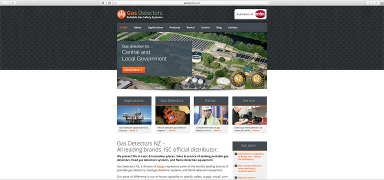 GasDetectors.co.nz website screenshot