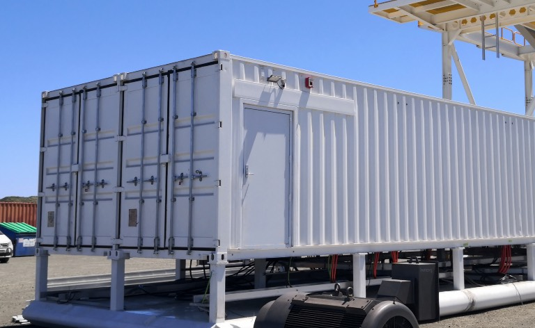 Double-width 40 footer mobile plant room