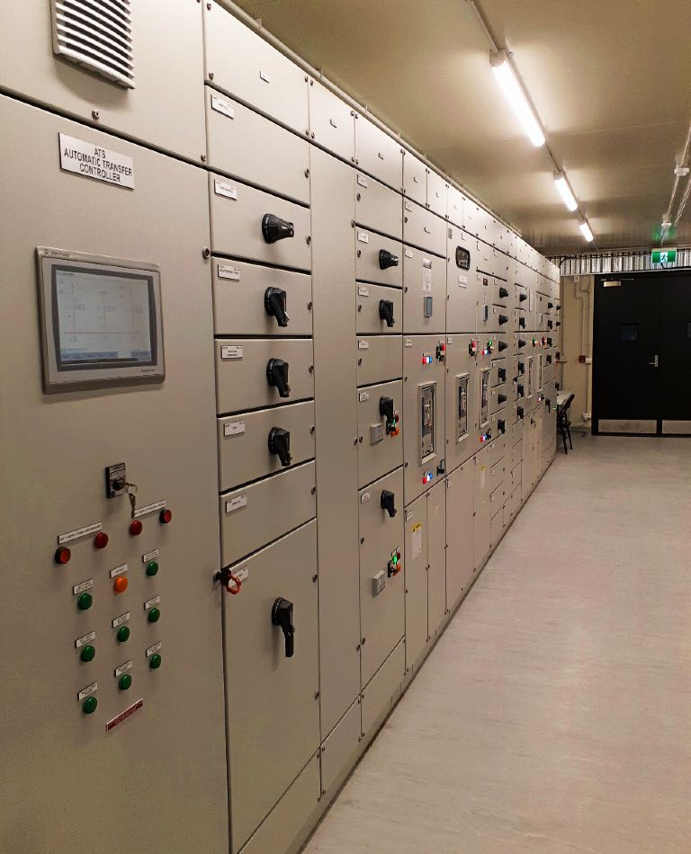 Mobile plant room interior at new power station